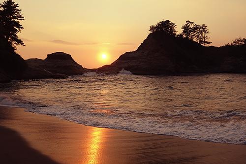 『夏の夕暮れ』のフリー写真画像[ID:987]