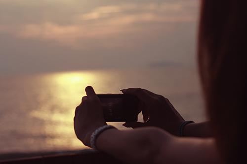 『夏の夕暮れ』のフリー写真画像[ID:1109]
