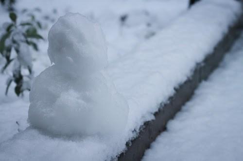 『雪だるま』のフリー写真画像[ID:7493]