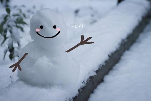 『雪だるま』のフリー写真画像[ID:7500]