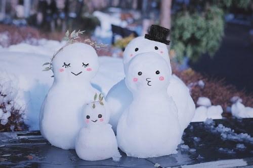 『雪だるま』のフリー写真画像[ID:8101]