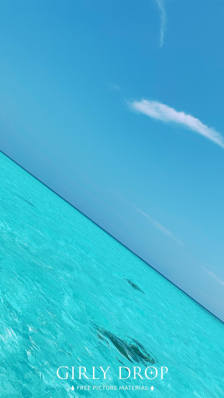 おしゃれなiphone壁紙 宮古島 八重干瀬 やびじ のゼリーみたいな海と空のiphone スマホ 壁紙 おしゃれなフリー写真素材 Girly Drop