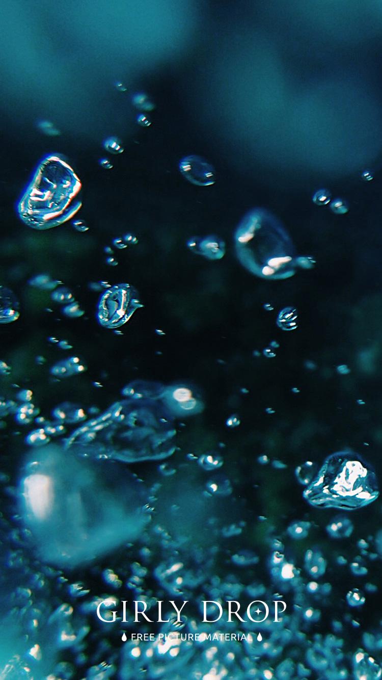 おしゃれなiphone壁紙 水の中で空気の泡がブクブクする様子のiphone スマホ 壁紙 おしゃれなフリー写真素材 Girly Drop